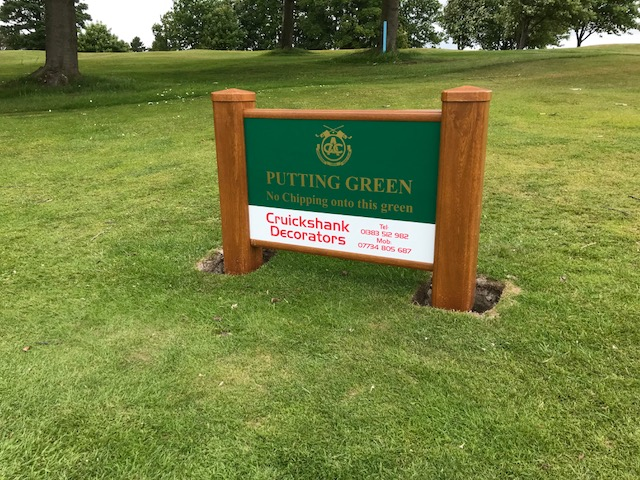 Mowover golf course signs