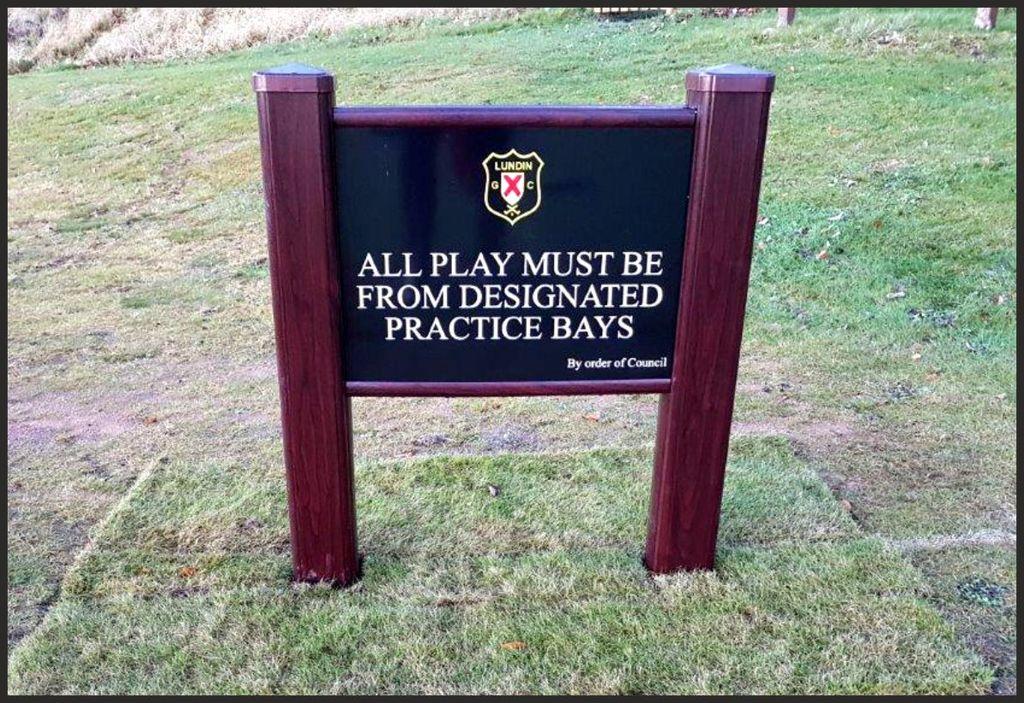 Golf Course Signage